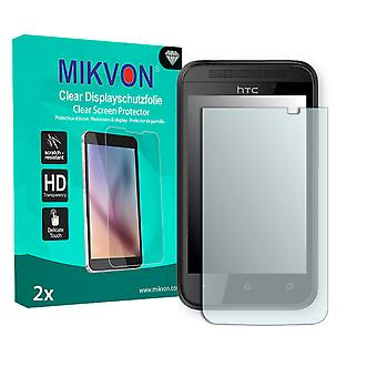 HTC Desire 200 Screen Protector - Mikvon Clear (Retail Package with accessories)