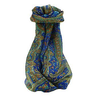 Amoreira cachecol longo tradicional Kareng azul por Pashmina & seda