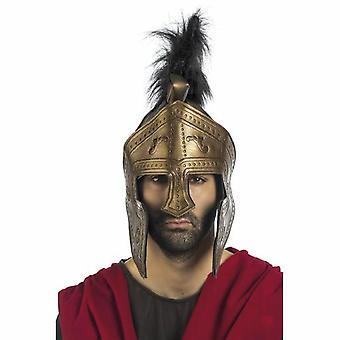 Helm Ritterhelm Visier Bronze Herren Ritter Herrenkostüm