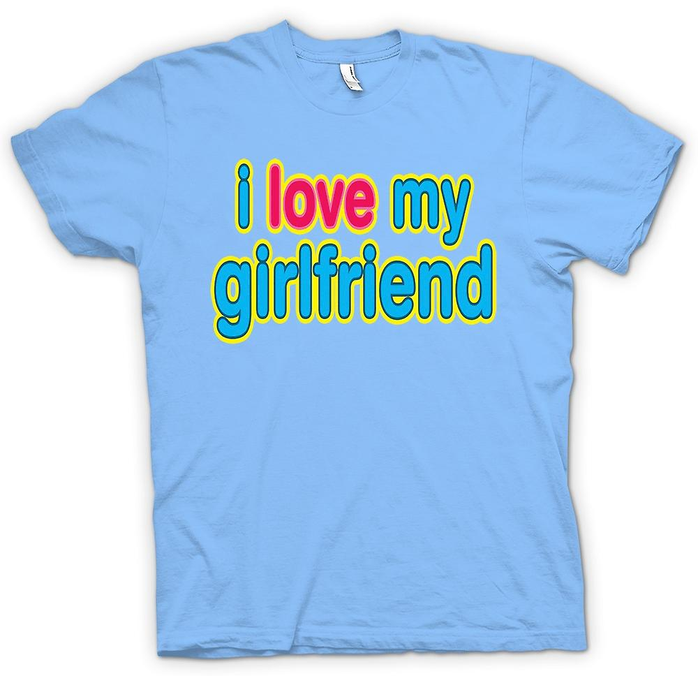 Mens T-shirt - I Love My Girlfriend - lustig