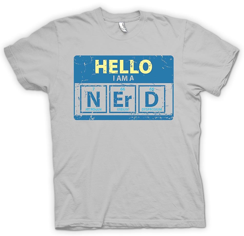 Mens T-shirt - Hello I Am A Nerd - Periodic Table