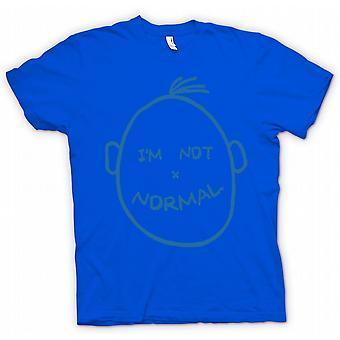Mens T skjorte Im ikke Normal - Funny
