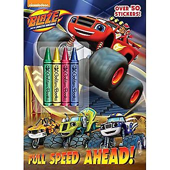 Full Speed Ahead! (Blaze and the Monster Machines) (Color Plus Crayons and Sticker)