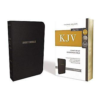 KJV, Deluxe referanse Bibelen, gigantiske utskrift, imitert skinn, svarte, røde bokstaven Edition, komfort skrive