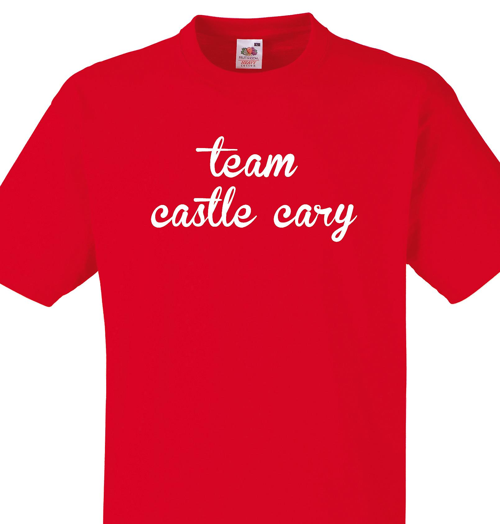 Team Castle cary Red T shirt