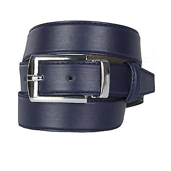 Boys Adjustable Matt Navy Faux Leather Belt