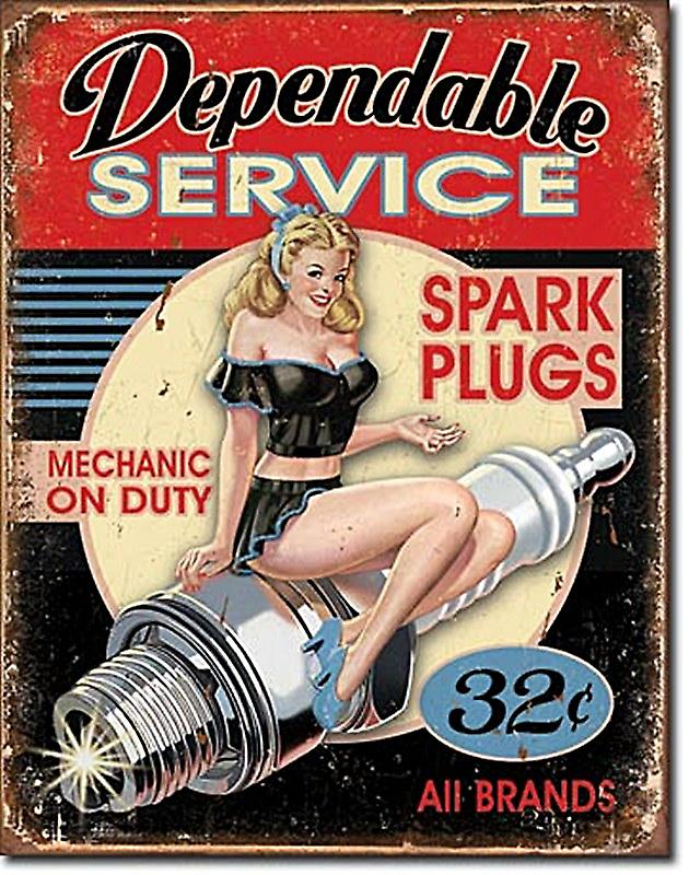 Dependable Service Spark Plugs metal sign    (de)