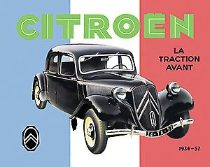 Citroen Traction Avant Steel Fridge Magnet