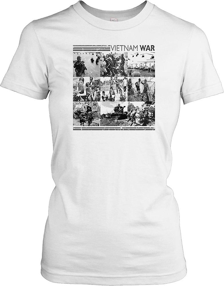 Vietnam War Photomontage Ladies T Shirt