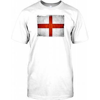 England flag-grunge Effect Kids T shirt