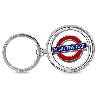 London Underground umysł Gap Metal Spinner Keyring (gwc)