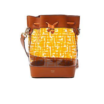 Fendi Mon Tresor Brown/gold Leather Shoulder Bag