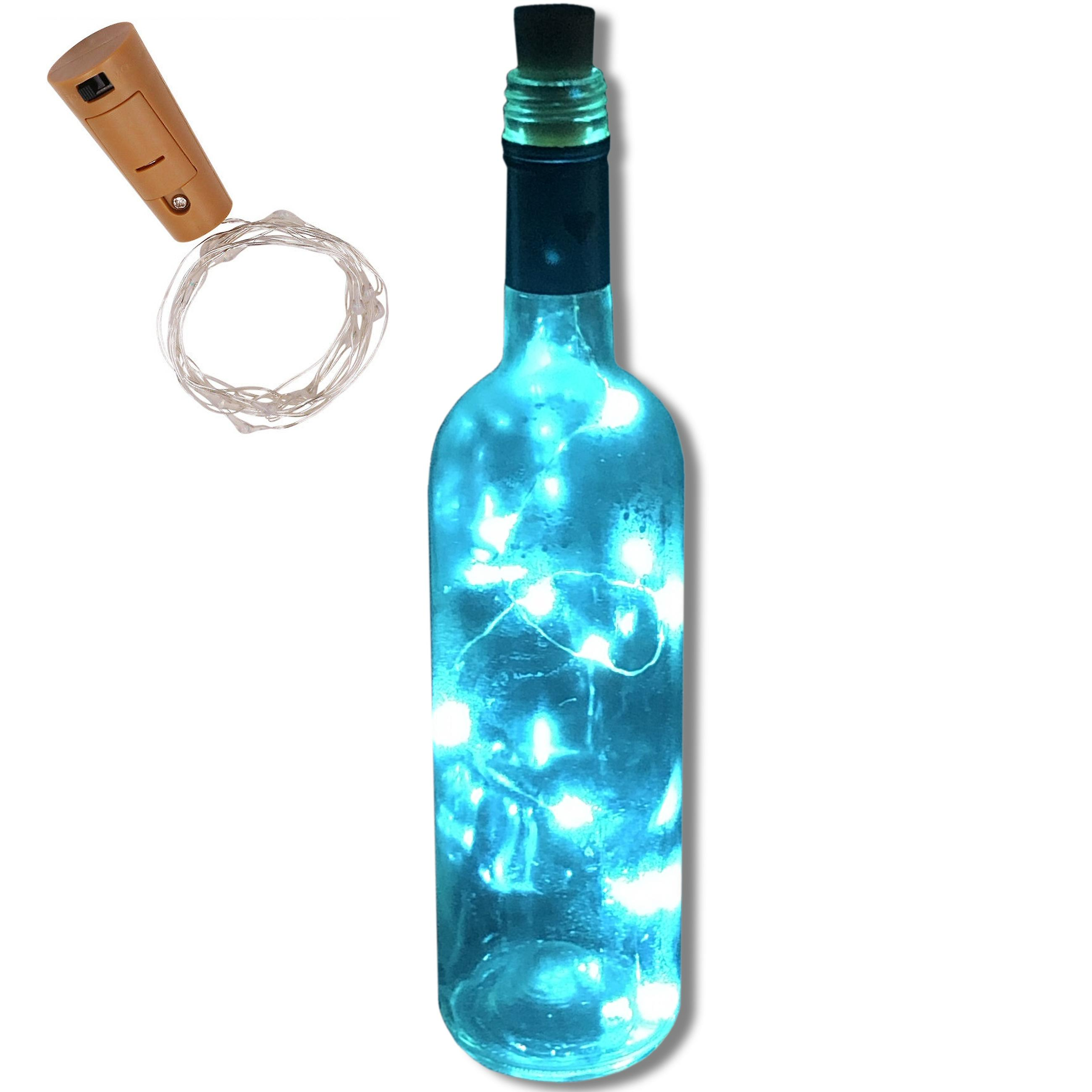 LED Cork with 10 LED Lights on a String, Bottle Stopper, Lamp, Party, Wedding, Event (Bottle NOT included)