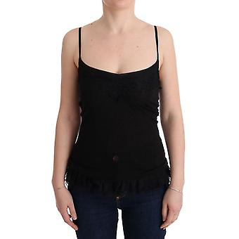 Black wool camisole lingerie top