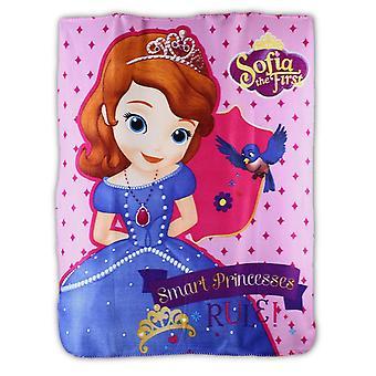 Disney Princess Sofia The First Girls Plush Fleece Blanket