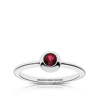 Assassin 's Creed Odyssey Engraved Garnet Ring