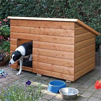 Rowlinson Large Wooden Dog Kennel with Lifting Lid - Dip Treated