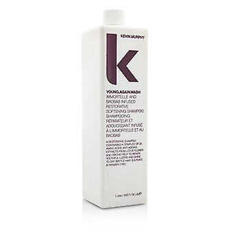 Kevin Murphy Young.Again.Wash (Immortelle and Baobab Infused Restorative Softening Shampoo - To Dry Brittle Hair) 1000ml/33.6oz