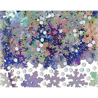 SALE - Bumper 71g Bag of Sparkly Snow Confetti Sequins for Crafts
