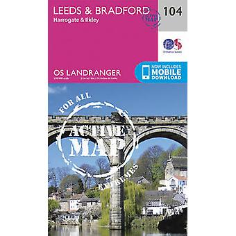 Leeds & Bradford - Harrogate & Ilkley by Ordnance Survey - 9780319474