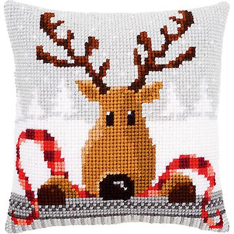 Reindeer With A Red Scarf I Cushion Cross Stitch Kit-16