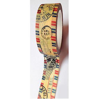 Washi Tape 15Mm X 10M Vintage Stamped Airmail Lmt1510 631