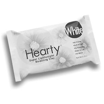 Hearty Super Lightweight Air Dry Clay 5.25 Ounces White 1300A
