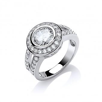 Cavendish French Bold Cubic Zirconia Solitaire Ring