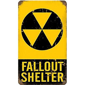 Fallout Shelter rusted metal sign  (pst 148)