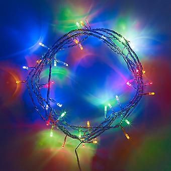 LED batteri drevet kulørte lamper juledekoration bryllup fest farvet