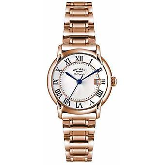 Roterende Womens Les Originales Carviano Rose goud PVD LB90144/06 Watch