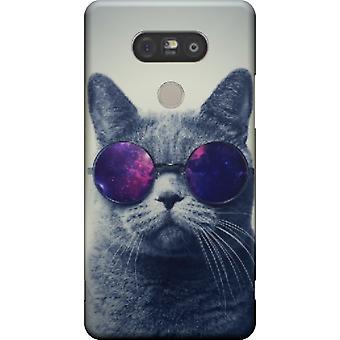 Katze mit Brille für LG G5 zu decken
