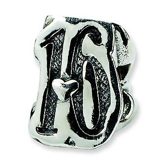 Sterling Silver Antique finish Reflections Sweet 16 Bead Charm