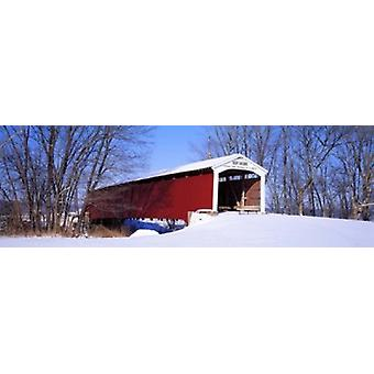 Neet Covered Bridge Parke Co IN USA Poster Print