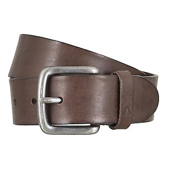 ALBERTO basic belt mens belt leather belt Brown 4771