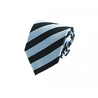 Tie black blue striped by Fabio Farini