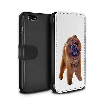 STUFF4 PU Leather Wallet Flip Case/Cover for Apple iPhone 7/Chow Chow/Dog Breeds