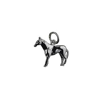Silver 14x19mm Standing Horse Pendant or Charm
