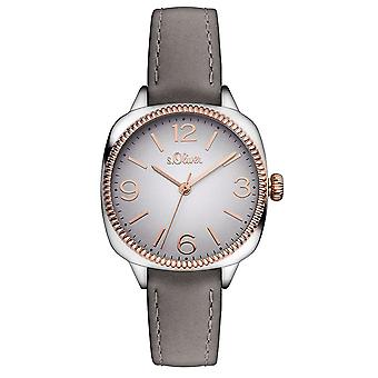 s.Oliver women's watch wristwatch leather SO-3136-LQ
