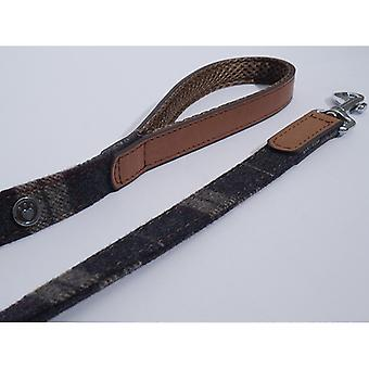 Luxury Leather Lead Tweed Check 3/4