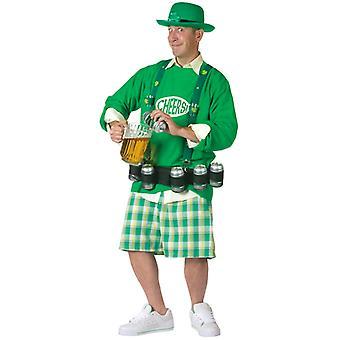 Cheers N øl St Patricks Leprechaun mænd kostume One Size