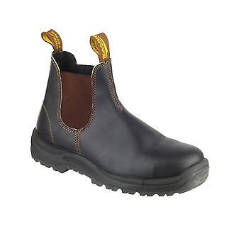 Blundstone 192 Industrial Mens Premium Water Resistant Safety Boot Stout Brown