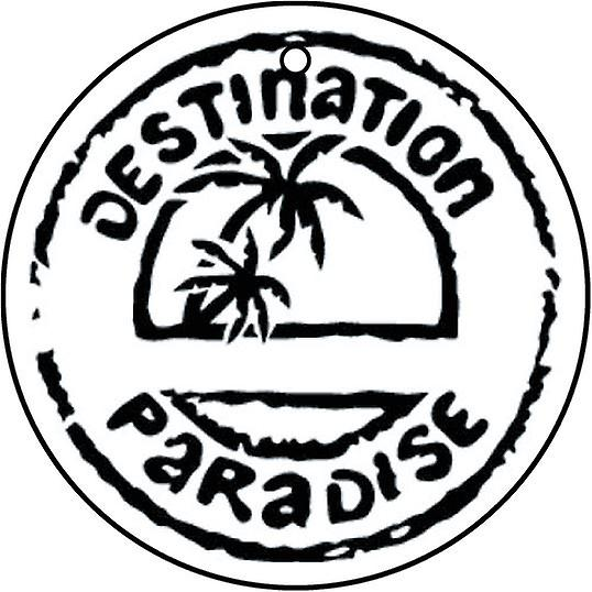 Destination Paradise Car Air Freshener