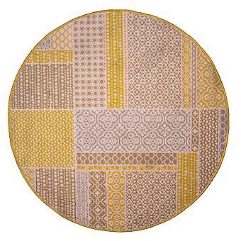 Oker gele hedendaagse Patchwork cirkel deken - Milaan