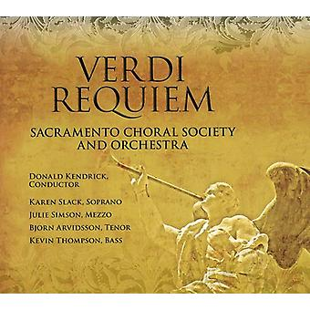 Sacramento Choral Society & Orchester - Verdi: Requiem [CD] USA import