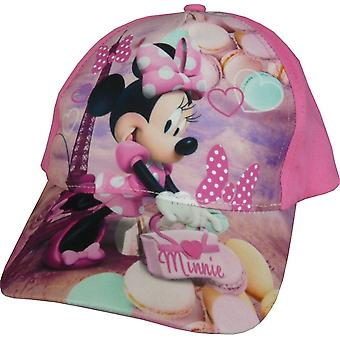 Girls Disney Minnie Mouse Baseball Cap Hat with Adjustable Back