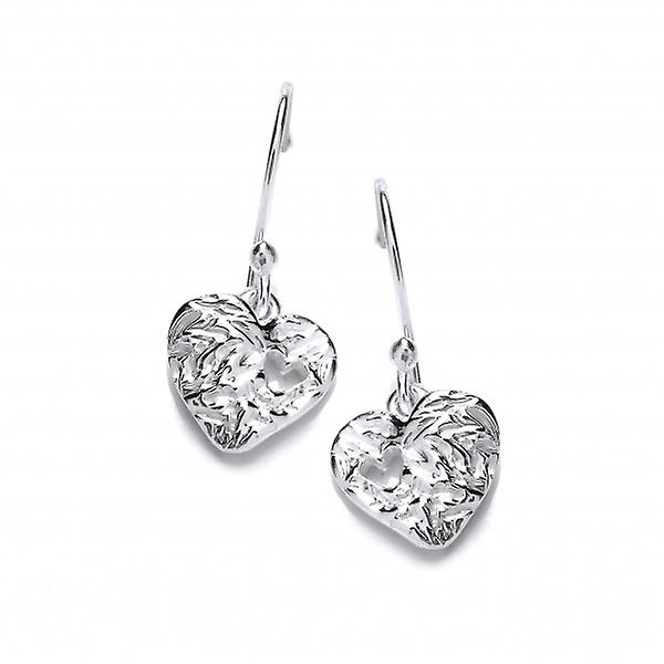 Cavendish French Heart to Heart Silver Earrings
