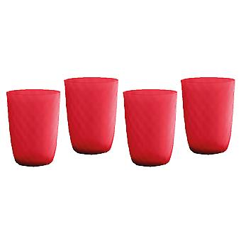 Epicurean Tropicana Red Acrylic Tumbler Set of 4