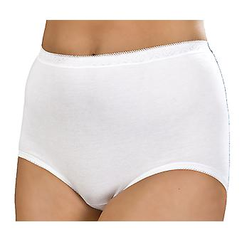 Ladies Combed Cotton Low Cut Leg Stretch Maxi Brief pants knickers Underwear 6Pk