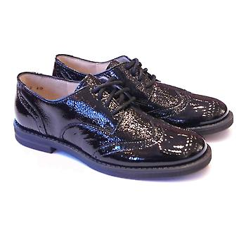 Froddo Girls Black Patent Leather Brogues | Froddo Girls School Shoes